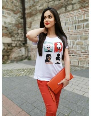 Тениска Donne di Strass